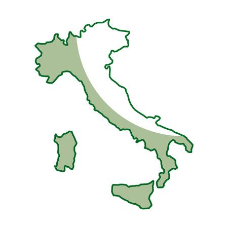 이탈리아지도 아이콘 흰색 배경 벡터 일러스트 레이 션 그래픽 디자인 위에 일러스트