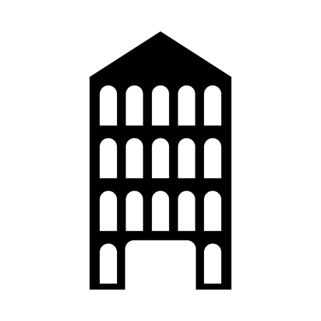 isolated italian building vector illustration graphic design