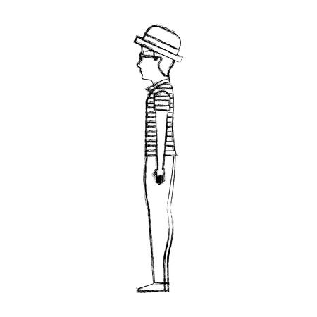 venetian gondolier traditional vector illustration graphic design