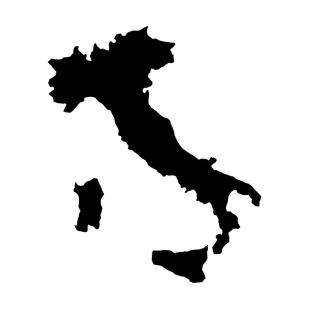 italy map icon over white background vector illustration graphic design