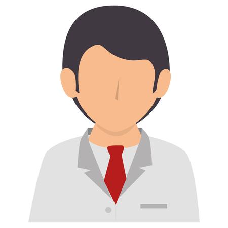 男性医師のアバターの文字ベクトル イラスト デザイン