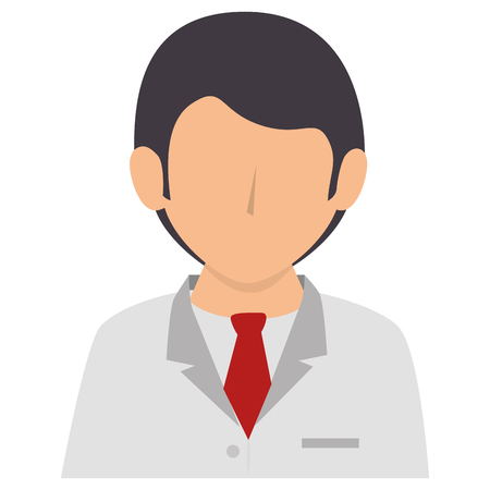 Male doctor avatar character vector illustration design