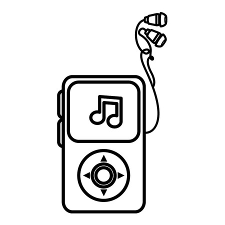 Reproductor de música mp3 icono aislado diseño de ilustración vectorial Foto de archivo - 78428512