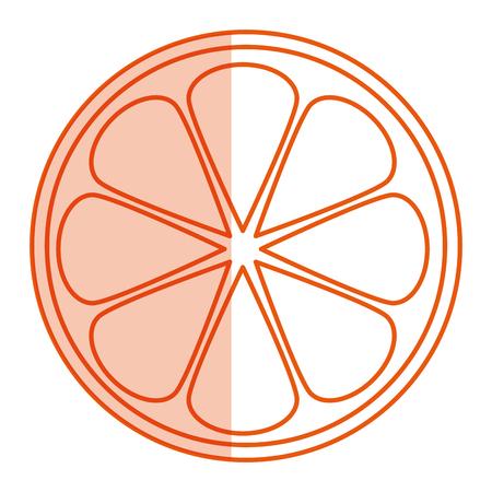 オレンジ色の果物のアイコン ベクトル イラスト デザインを分離しました。