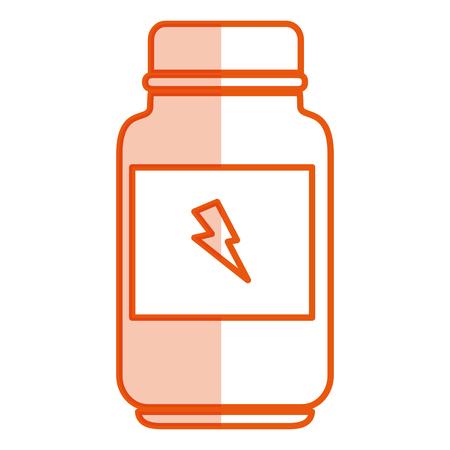 bottle energizing product icon vector illustration design