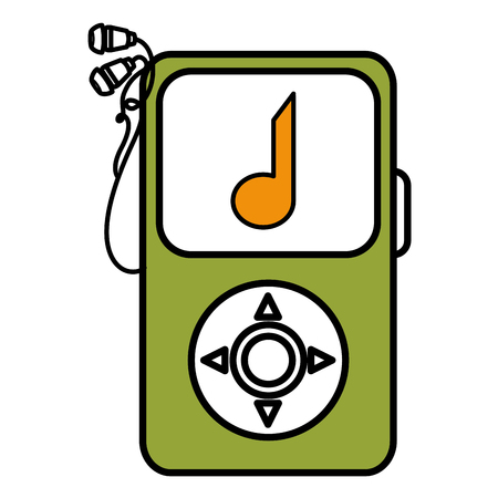 Music player mp3 isolated icon vector illustration design Reklamní fotografie - 78489604