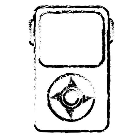 Reproductor de música mp3 icono aislado diseño de ilustración vectorial Foto de archivo - 78440283