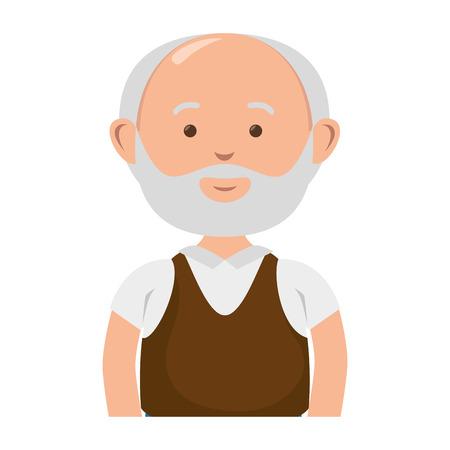 Oude man avatar karakter vector illustratie ontwerp Stockfoto - 78429240