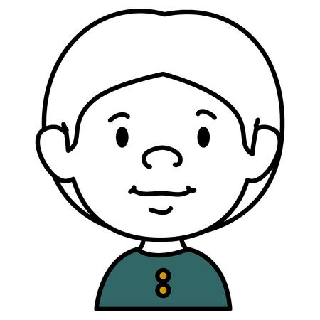 animated boy: little boy avatar character vector illustration design