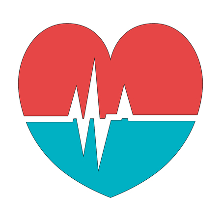 pulsating: heart cardio isolated icon vector illustration design