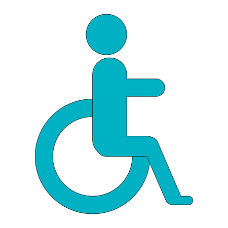 disable person sign icon vector illustration design