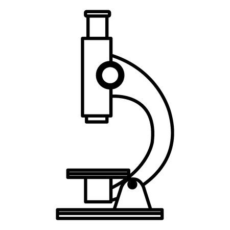 Laboratory microscope isolated icon vector illustration design