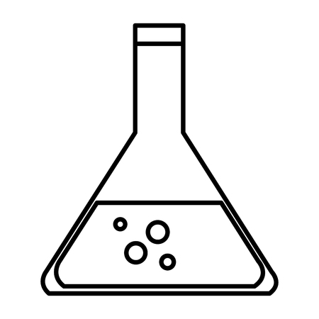 medical technology: tube test with blood icon vector illustration design