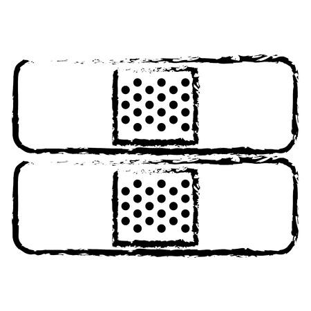 Genezing band medisch pictogram vector illustratie ontwerp Stock Illustratie