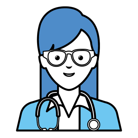 female doctor avatar character vector illustration design Illustration