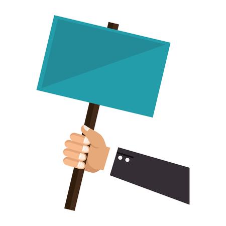 Hand human with protest label vector illustration design 版權商用圖片 - 78444461