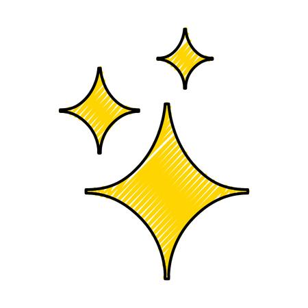 装飾的な火花分離アイコン ベクトル イラスト デザイン  イラスト・ベクター素材