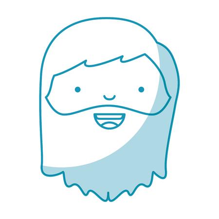 jesuschrist: holy jesuschrist character icon vector illustration design