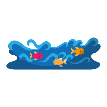 waves river isolated icon vector illustration design