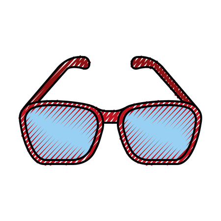 eye glasses isolated icon vector illustration graphic Illustration