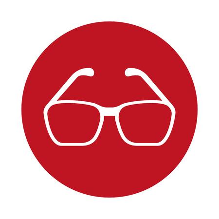 eye glasses isolated icon vector illustration graphic Illustration