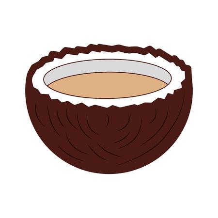 トロピカル ココナッツ カクテル アイコン ベクトル イラスト デザイン  イラスト・ベクター素材