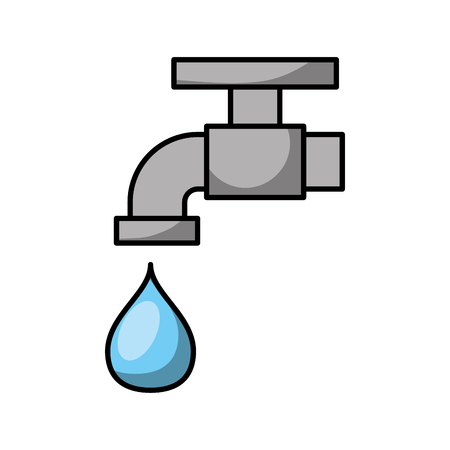 faucet water isolated icon background vector illustration Иллюстрация
