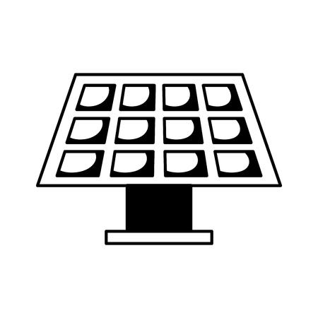Pannello di energia solare su sfondo bianco illustrazione vettoriale colorato Archivio Fotografico - 78517644