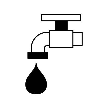 faucet water isolated icon background vector illustration Illustration