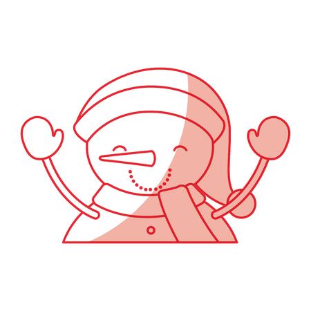 cute snowman icon vector illustration graphic design