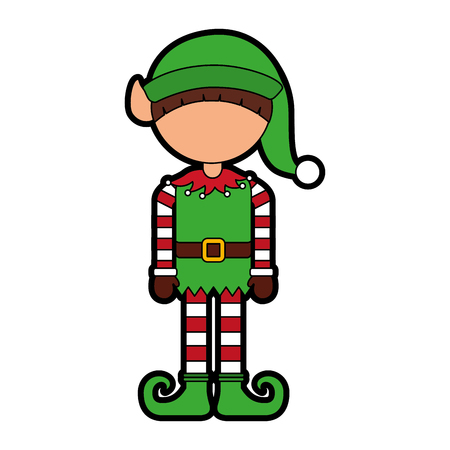 schattige kleine kerstman elf vector illustratie grafisch ontwerp Stock Illustratie