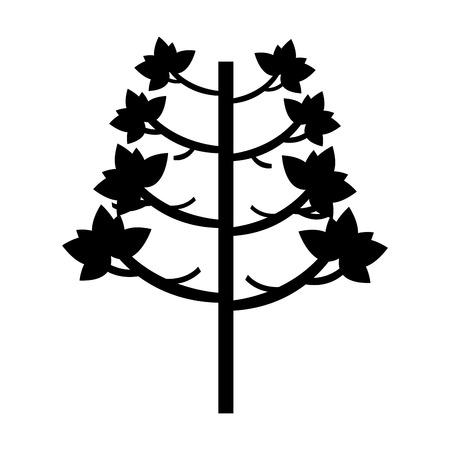 tree plant autumn icon vector illustration design Stok Fotoğraf - 78519553