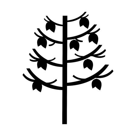 tree plant autumn icon vector illustration design Stok Fotoğraf - 78519582