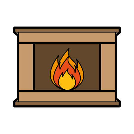 christmas fireplace icon vector illustration graphic design