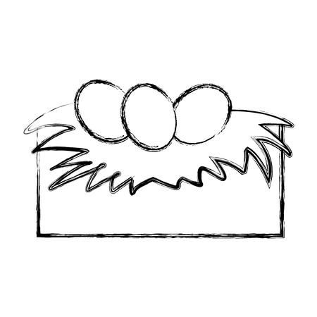 tender Nest with eggs vector illustration design