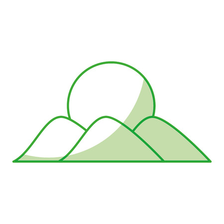 mountain with sun drawing vector illustration design Imagens - 78517830