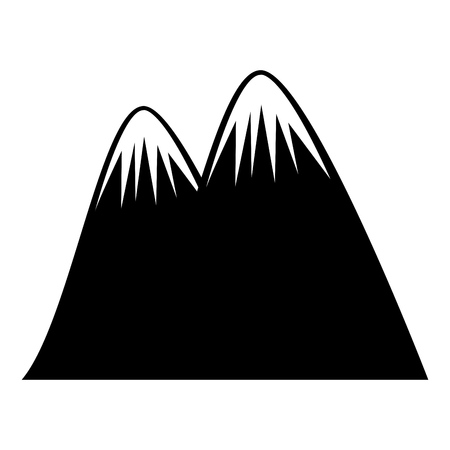 big mountain drawing icon vector illustration design Ilustração
