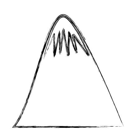 big mountain drawing icon vector illustration design Illustration