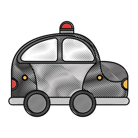 Polizei Patrouille Zeichnung Symbol Vektor-Illustration Design Standard-Bild - 78517869