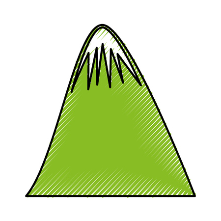 big mountain drawing icon vector illustration design Çizim