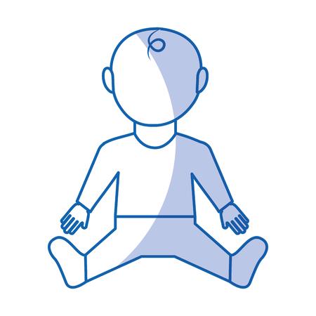 little baby character icon vector illustration design Illustration