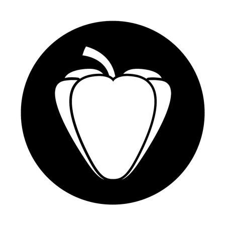 pepper fresh vegetable icon vector illustration design