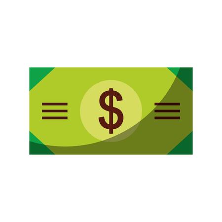 Diseño del ejemplo del vector del icono del dólar de la cuenta de dinero Foto de archivo - 78522689