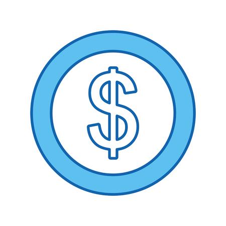 coin money dollar icon vector illustration design