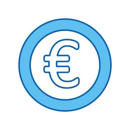 coin money euro icon vector illustration design