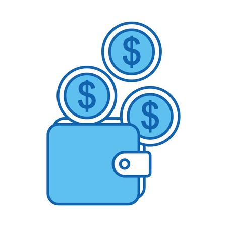 Wallet money isolated icon vector illustration design Illustration