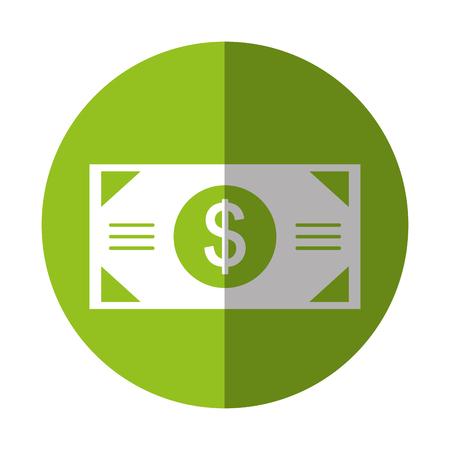 bill money dollar icon vector illustration design Ilustração