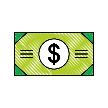 bill money dollar icon vector illustration design Stock Vector - 78529808