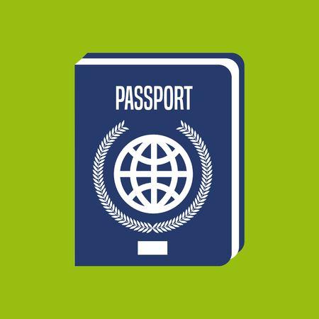 パスポート ドキュメント アイコン ベクトル イラスト デザインを分離しました。  イラスト・ベクター素材