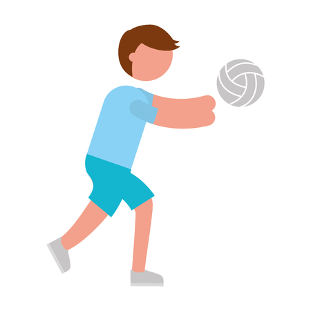 ethlete practicing volleyball avatar vector illustration design